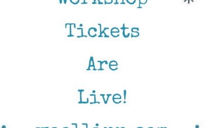 Workshop Tickets Are Live